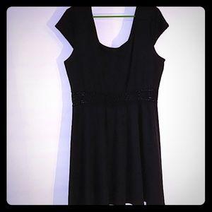 Xhilaration Black Dress intricate XXL (0182)